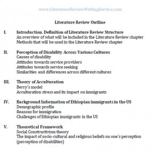 Dissertation literature review layout