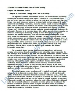 Literature Review Paper Sample