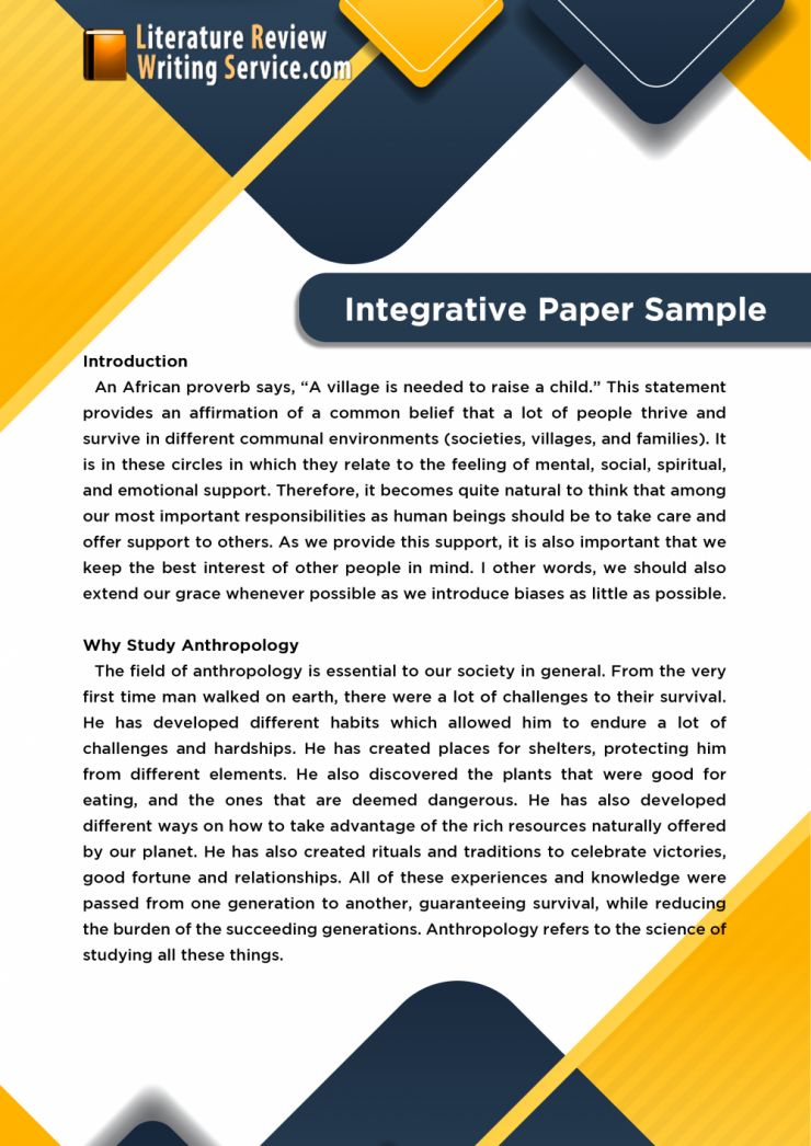 integrative paper sample