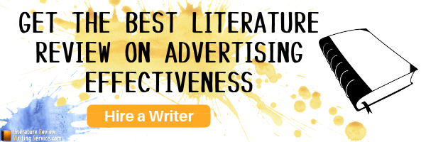 advertising effectiveness review of literature writing help