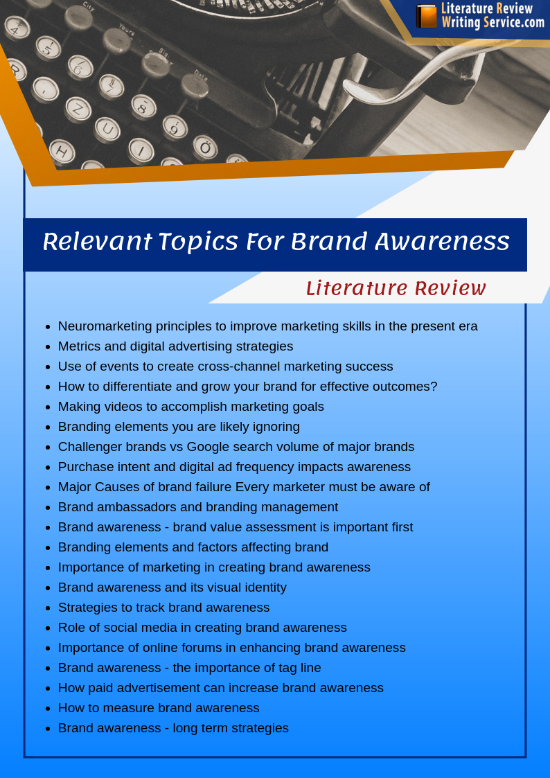 literature review on brand awareness topics