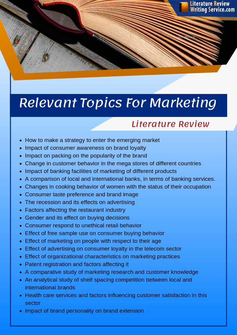 Service marketing literature review