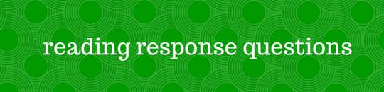 reading response questions banner