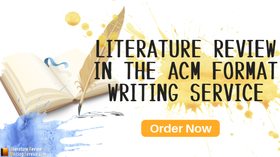 acm format lit review writing
