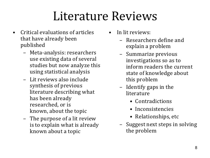 review of literature ppt online