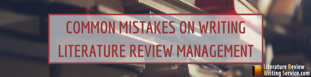 management literature review format
