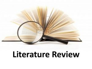average length of a literature review should be
