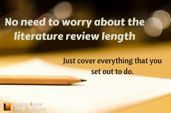 literature review length should be