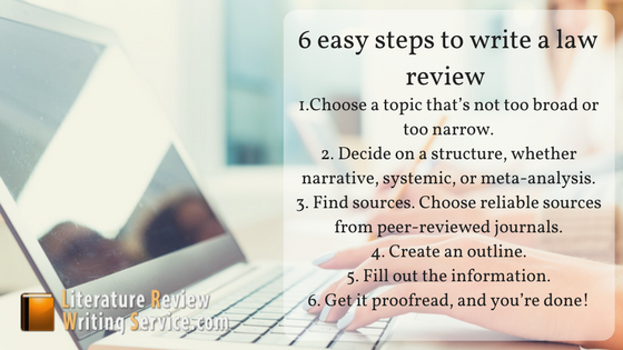 steps for literature review law