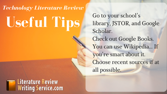 finance literature review tips
