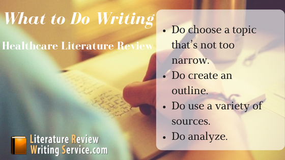 healthcare management literature review tips