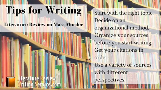 mass murder literature review rules
