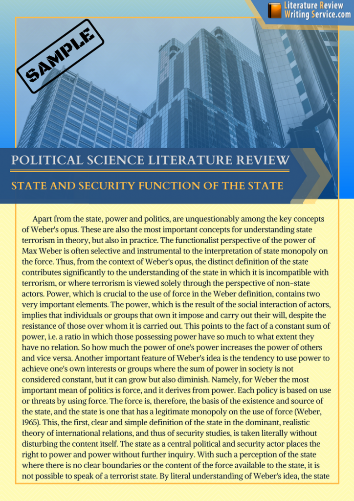 creative sample political science literature review