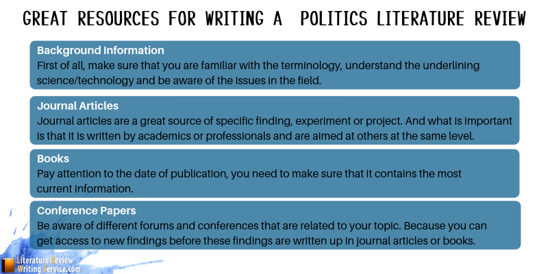 politics literature review resources
