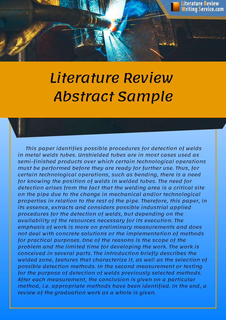 Essay about literature example