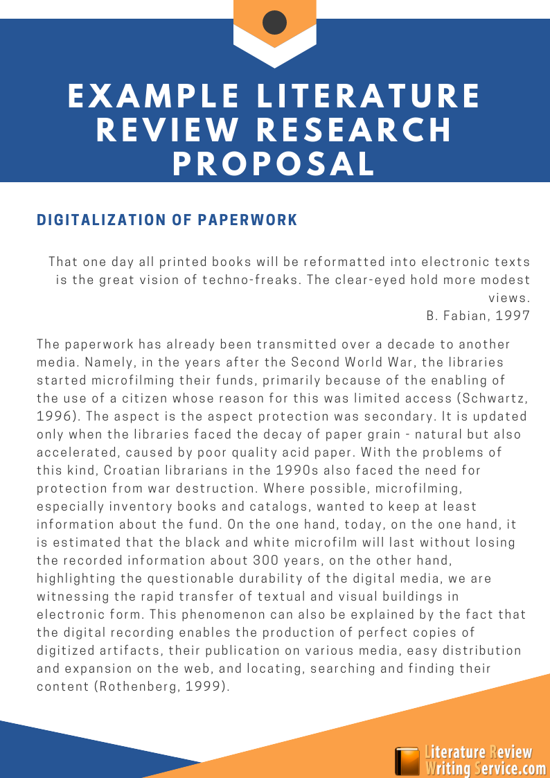 example literature review research proposal