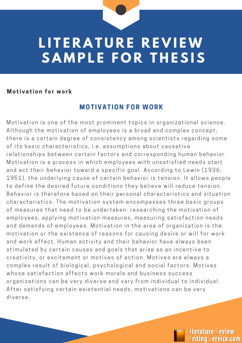 literature review sample for thesis